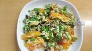 Фото рецепта Тёплый салат с баклажанами с сыром и помидорами
