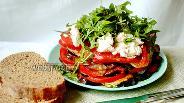 Фото рецепта Закуска из баклажанов, кабачков и помидоров