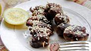 Фото рецепта Шашлык из куриных сердец в кунжуте