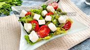Фото рецепта Сырный салат с запечённым перцем