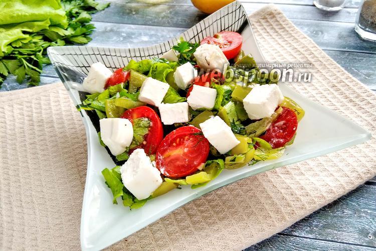 Фото Сырный салат с запечённым перцем