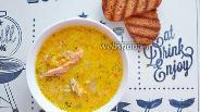 Фото рецепта Сливочный суп с горбушей и рисом