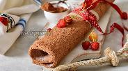 Фото рецепта Шоколадный ангельский бисквит