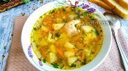 Фото рецепта Гречневый суп с курицей в мультиварке