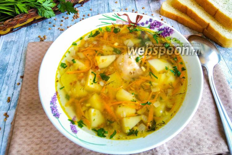 Фото Гречневый суп с курицей в мультиварке