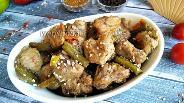 Фото рецепта Свинина со стручковой фасолью и сладким перцем