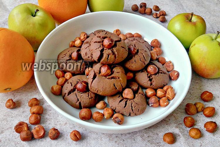 Фото Печенье с какао и фундуком