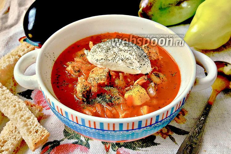 Фото Томатный куриный суп