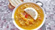 Фото рецепта Вегетарианский чечевичный суп с томатом