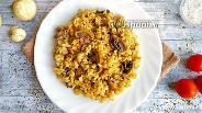 Фото рецепта Коричневый рис с грибами