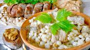 Фото рецепта Перловая каша со свининой