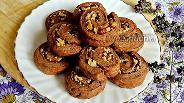 Фото рецепта Шоколадно-творожное печенье с грецкими орехами