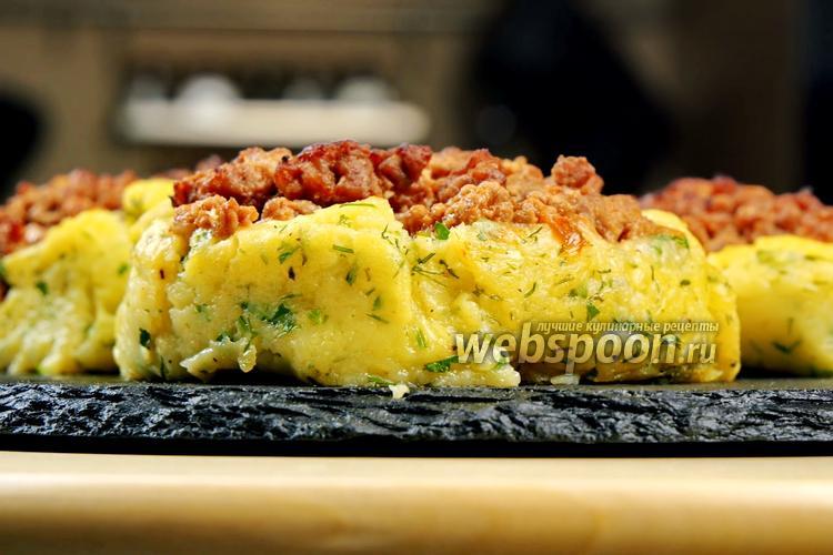 Фото Картофельные ватрушки с фаршем. Видео