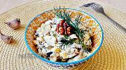 Фото рецепта Салат с баклажаном, яйцом и твёрдым сыром