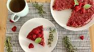 Фото рецепта Пирог малиновый перевёртыш