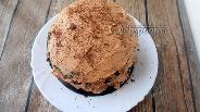 Фото рецепта Шоколадный блинный торт с кремом кето Шарлотт