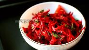 Фото рецепта Салат из сырой свёклы