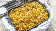 Фото рецепта Сырная запеканка из макарон с курицей под сливочным соусом