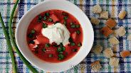 Фото рецепта Свекольник с резаными томатами в мультиварке