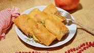 Фото рецепта Блины с тушённой капустой