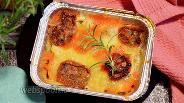 Фото рецепта Картофельно-куриная запеканка с вяленными томатами