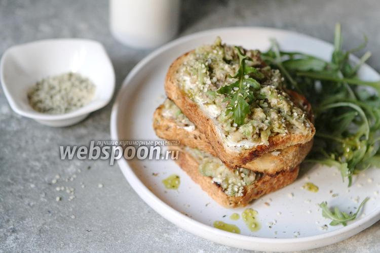 Фото Бутерброды с авокадо и сыром