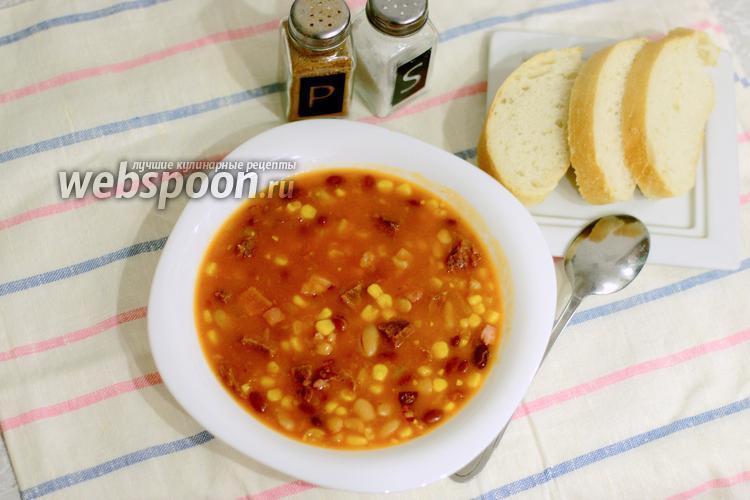 Фото Бостонский фасолевый суп