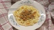 Фото рецепта Фузилли с фаршем и грибами