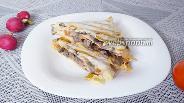 Фото рецепта Сэндвич из лаваша с печенью и грибами