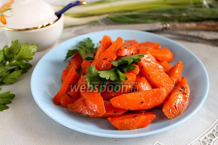 Фото Морковь с тимьяном и мускатным орехом