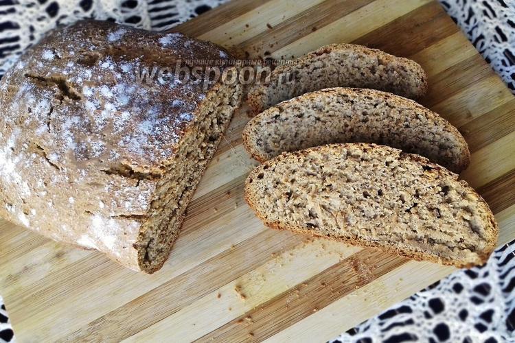 Фото Пшенично-ржаной бездрожжевой хлеб в хлебопечке