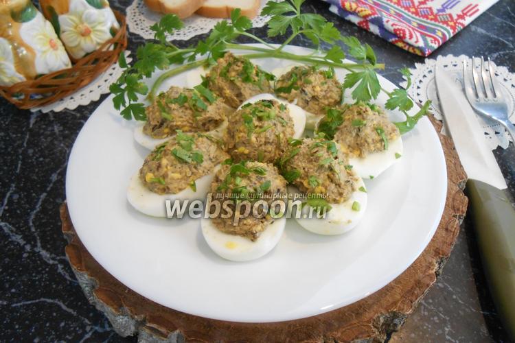 Фото Яйца фаршированные белыми грибами