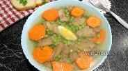 Фото рецепта Заливной язык с морковью и яйцом