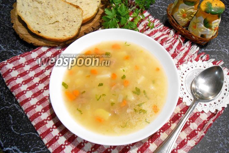 Фото Суп со свининой и пшеном в мультиварке
