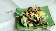 Фото рецепта Картофельный салат с маринованными опятами