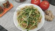 Фото рецепта Рисовая лапша с кальмарами