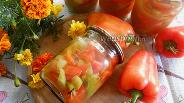 Фото рецепта Перец соломкой на зиму в масле с гвоздикой