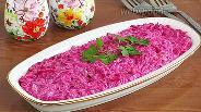 Фото рецепта Закуска из свёклы с солёным огурцом и хреном