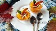 Фото рецепта Крем-пюре из запечённой тыквы с айвой