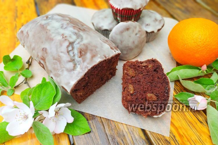 Фото Шоколадные кексы с апельсиновой глазурью