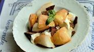 Фото рецепта Десерт из рикотты, мёда и груши