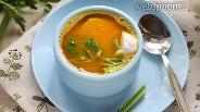 Фото рецепта Тыквенный суп на курином бульоне