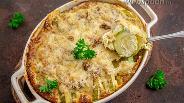Фото рецепта Картофельно-кабачковая запеканка под сливочным соусом