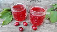 Фото рецепта Кисель из кизила и яблок