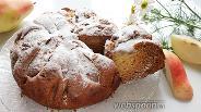 Фото рецепта Грушево-ореховый постный пирог