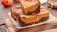 Фото рецепта ПП тыквенно-шоколадный чизкейк