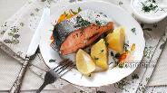 Фото рецепта Форель паровая с оливковым маслом и соевым соусом