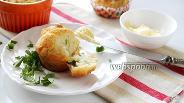 Фото рецепта Маффины с копчёным омулем и зелёным луком