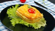 Фото рецепта Макароны с курицей и сыром в духовке. Видео