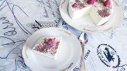 Фото рецепта Творожный торт суфле с белым шоколадом